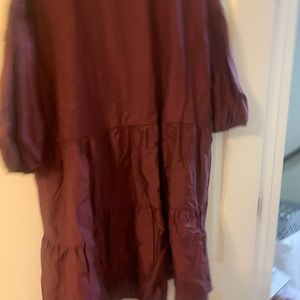 Maroon Bubble Tiered Dress